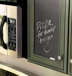 Kitchen Chalkboard Cabinet