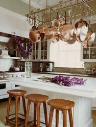 dream kitchen with pot rack