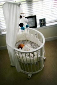 round portable cribs